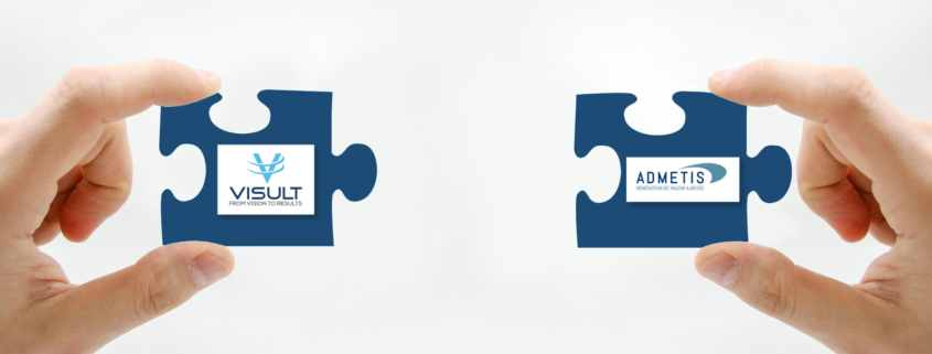 Logo de Visult et Admetis dans un puzzle
